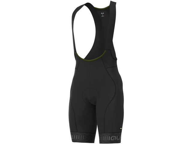 Alé Cycling Graphics PRR Green Road Bib Shorts Men black/charcoal grey